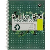 Pukka Pad Notebook Recycled Jotta A4 Ruled Green 3 Pieces of 110 Sheets