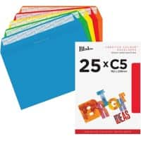 Blake Envelope C5 120gsm Assorted Peel and Seal Pack of 25