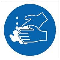 Seco Health & Safety Poster Wash Your Hands Plastic 15 x 15 cm