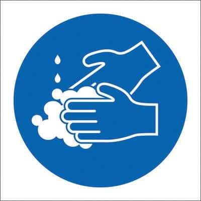 Health & Safety Poster Wash Your Hands Plastic 15 x 15 cm