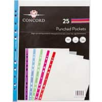 Concord Punched Pockets A4 Clear 55 Micron Pack of 25