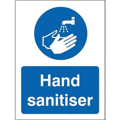 Stewart Superior Health and Safety Sign Hand Sanitiser Vinyl 20 x 15 cm