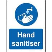 Stewart Superior Health and Safety Sign Hand Sanitiser Vinyl 30 x 20 cm