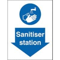 Stewart Superior Health and Safety Sign Sanitiser Station Vinyl 20 x 15 cm