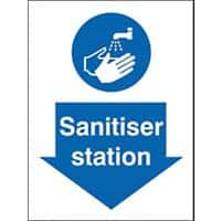 Health and Safety Sign Sanitiser Station Plastic 20 x 15 cm