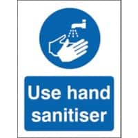 Health and Safety Sign Use hand sanitiser Vinyl 20 x 15 cm