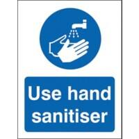 Stewart Superior Health and Safety Sign Use hand sanitiser Vinyl 30 x 20 cm