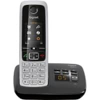Gigaset Single Cordless DECT Telephone C630A Black, Silver