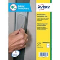 Avery AM001A4-10 Antimicrobial Film Self Adhesive 289 x 199 mm Transparent 10 Sheets of 1 Label
