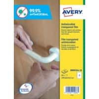 Avery AM002A4-10 Antimicrobial Film Self Adhesive 143 x 199 mm Transparent 10 Sheets of 2 Label