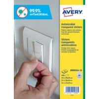 Avery AM00SA4-10 Antimicrobial Film Self Adhesive Transparent Pack of 680 Labels