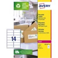 Avery Recycled Address Labels LR7163-15 99.1 x 38.1mm mm 15 Sheets of 14 Labels