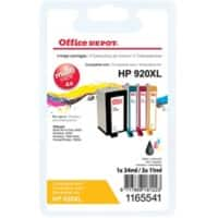 Office Depot Compatible HP 920XL Ink Cartridge c2n92ae Black, Cyan, Magenta, Yellow 4 pieces