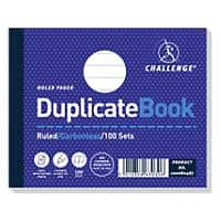 Challenge Ruled Duplicate Book with Card Cover 105 x 130 mm