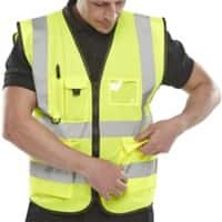 B Seen Executive Waistcoat Hi-Vis Polyester S Yellow
