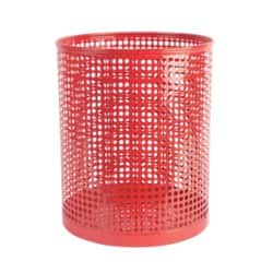 Foray Waste Bin Mesh Red