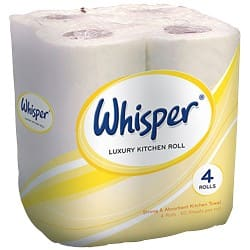 Whisper Kitchen Roll 24 Rolls of 60 Sheets