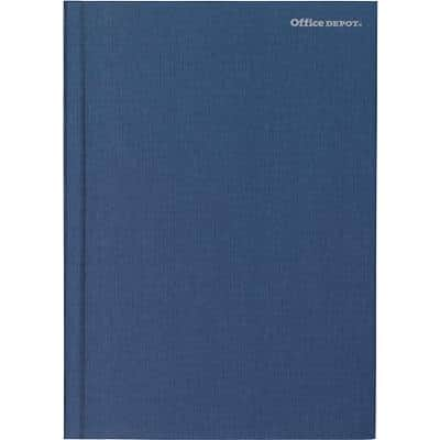 Office Depot Notebook Navy Blue Ruled unperforated A5 21 x 14.8 cm 80 sheets