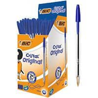 BIC Cristal Ballpoint Pen Medium Point 1.0mm Blue Pack of 50