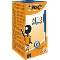 BIC M10 Original Retractable Ballpoint Pen Medium 0.4 mm Blue Pack of 50
