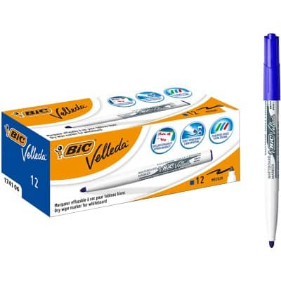 BIC Whiteboard Marker 1741 Bullet 1.4 mm Blue 12 Pieces