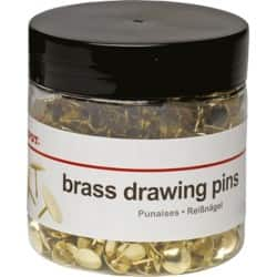 Office Depot Drawing Pins Brass 750 Pieces