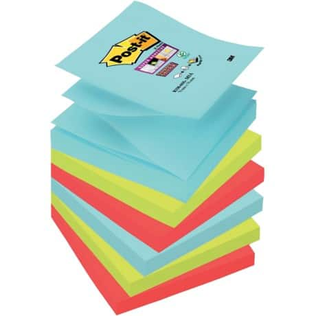 Post-it Super Sticky Notes Miami Assorted 76 x 76 mm 70gsm 6 pieces of 90 sheets