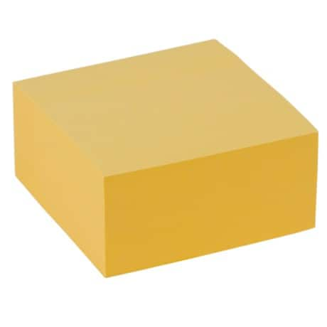 Office Depot Sticky Note Cube Pastel Yellow 36 x 76 mm 75gsm 400 sheets