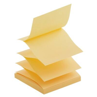 Office Depot Z-Notes 76 x 76 mm Yellow 6 Pieces of 100 Sheets