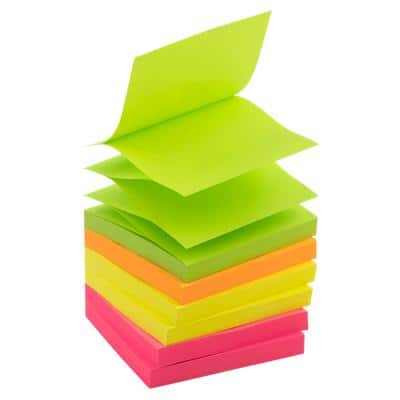 Office Depot Sticky Notes 76 x 76 mm Assorted Neon 6 Pads of 100 Sheets