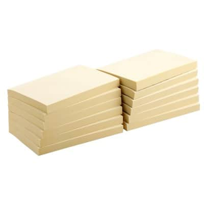Office Depot Sticky Notes 127 x 76 mm Yellow 12 Pieces of 100 Sheets
