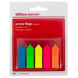 Office Depot Index flags Arrows Assorted 25 strips