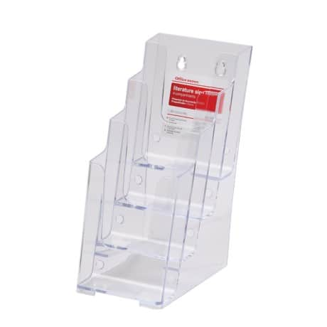 Office Depot 1/3 A4 4 Tier Literature Holder