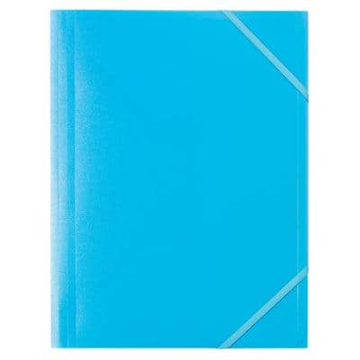 Office Depot 3 Flap Folder A4 Blue Polypropylene 24.5 x 32 cm 5 Pieces