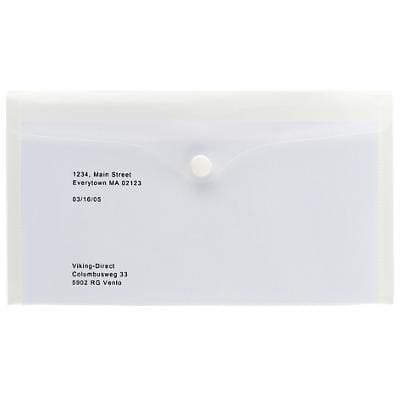 Office Depot Document Wallets DL 230 x 130 mm Transparent Polypropylene 5 Pieces