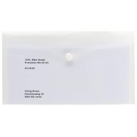 Office Depot Polypropylene DL Document Wallets - Clear - Pack of 5