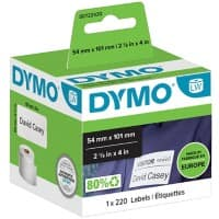DYMO LW Multi-purpose Labels 99014 Black on White 54 mm x 101 mm 220 Labels