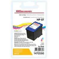 Office Depot Compatible HP 57 Ink Cartridge C6657A 3 Colours