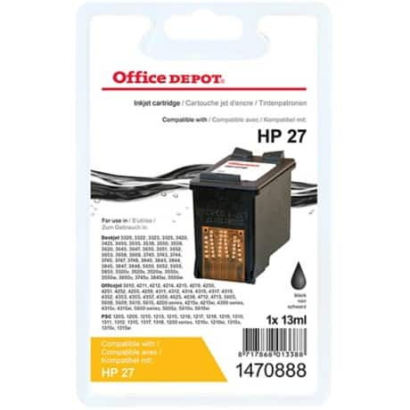 Office Depot Compatible HP 27 Ink Cartridge c8727a Black