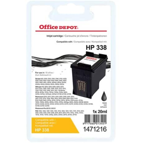 Office Depot Compatible HP 338 Ink Cartridge c8765ee Black