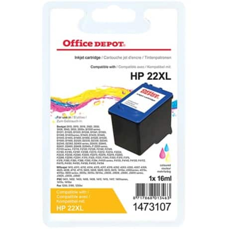 Office Depot Compatible HP 22 Ink Cartridge c9352ce 3 Colours