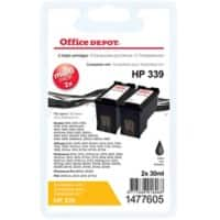 Office Depot Compatible HP 339 Ink Cartridge C8767E Black 2 Pieces