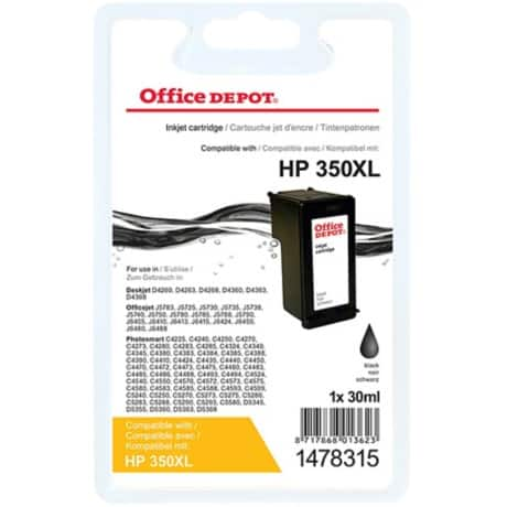 Office Depot Compatible HP 350XL Ink Cartridge cb336ee Black