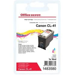 Office Depot Compatible Canon CL-41 Ink Cartridge 3 Colours