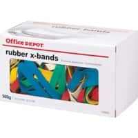 Office Depot Rubber X-Bands 190 x 25mm Ø 127mm Assorted 500g
