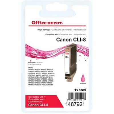 Office Depot Compatible Canon CLI-8M Ink Cartridge Magenta
