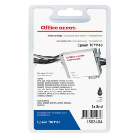 Office Depot Compatible Epson T0711 Ink Cartridge 1503404 Black