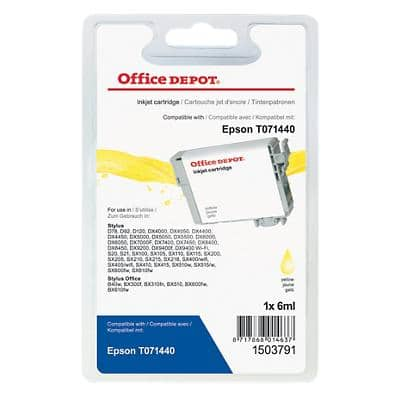 Office Depot Compatible Epson T0714 Ink Cartridge T017440 Yellow