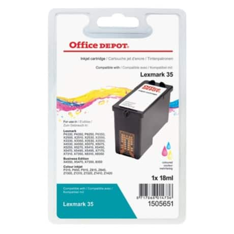 Office Depot Compatible Lexmark 35 Ink Cartridge Cyan, Magenta, Yellow