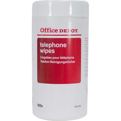 Office Depot Telephone Wipes White 16.5 cm 100 Pieces
